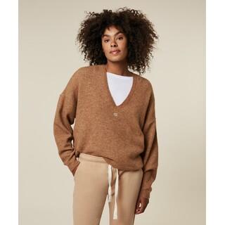 V-Neck sweater - camel