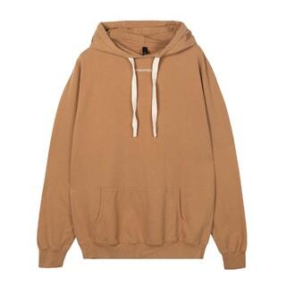 Soft hoodie logo caramel