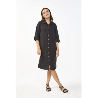 Bodil linen dress - jet black