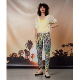 Cropped jogger - leopard sunset