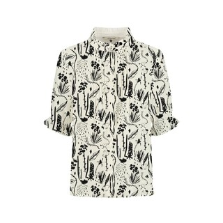 Blouse - Very Berry Black & White