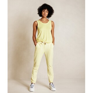 Cropped jogger faded - lemon