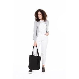 Basic shopper met kwast - mat zwart