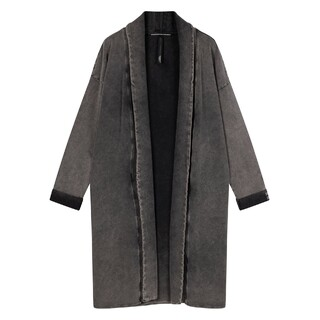 Cardigan washed grey