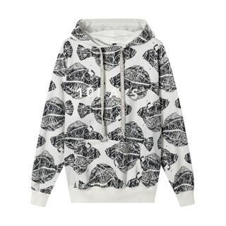 Piranha hoodie wit