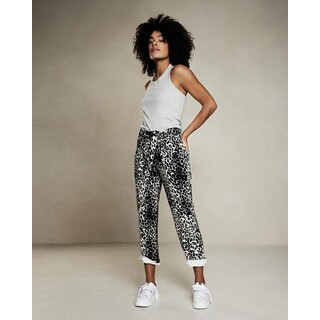 High waist jogger - leopard