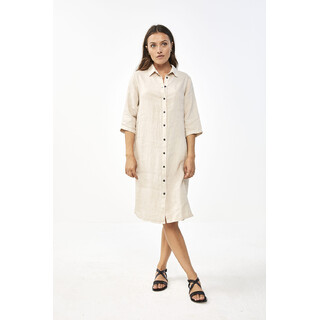 Bodil linen dress - sand