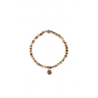 Armband marmerkraal bruin