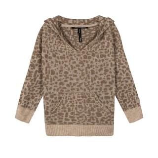 Soft hoodie leopard