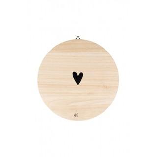 Wandbordje hout