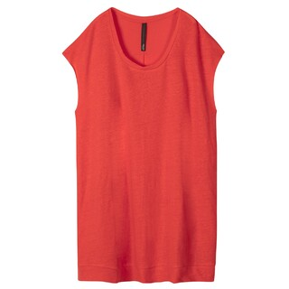 Tunic dress linnen fluor red