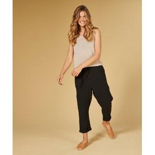 Pants crinkle - black