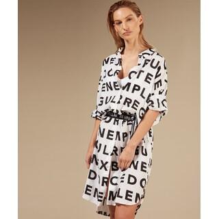Tunic dress slogan