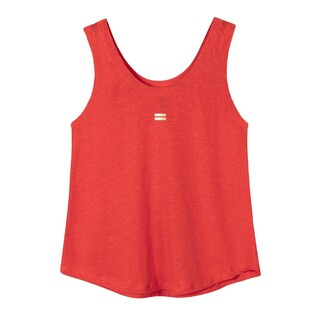Top linnen fluor red