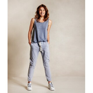 Cropped jogger faded - grey blue