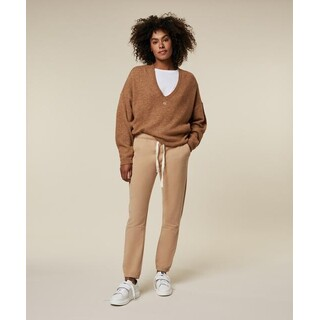 Cropped jogger - faded camel