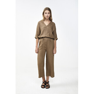 Ines linen pant - sepia